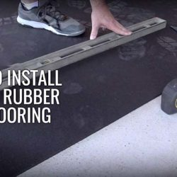 rubber roll mat installation