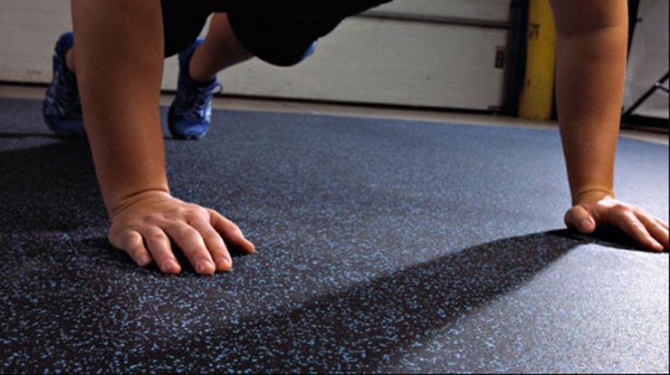 commercial gym flooring with rubber rolls mat