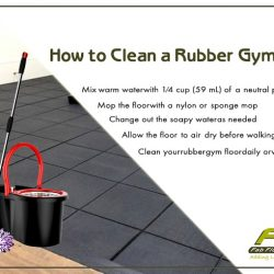 How do I clean rubber gym flooring
