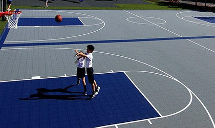 basketball rubber surface