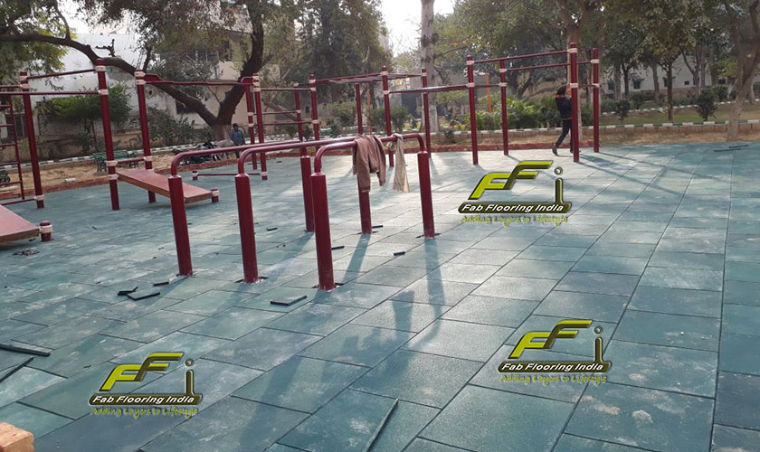 rubber flooring for outdoor play area
