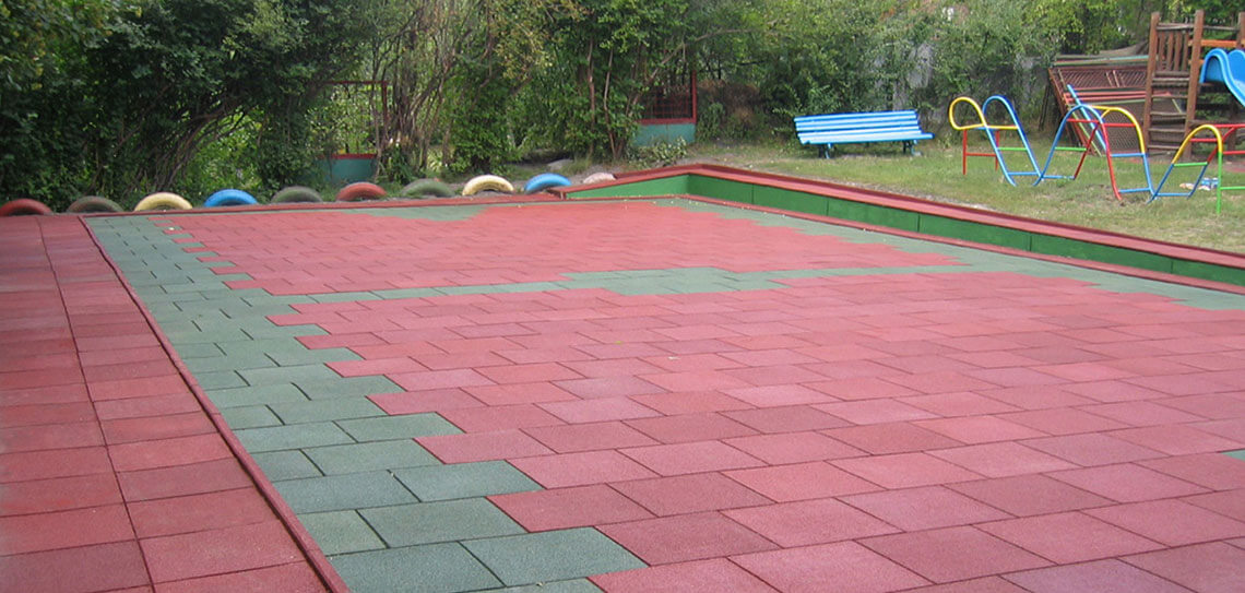 playground flooring rubber tiles