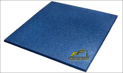 10mm blue rubber floor tile
