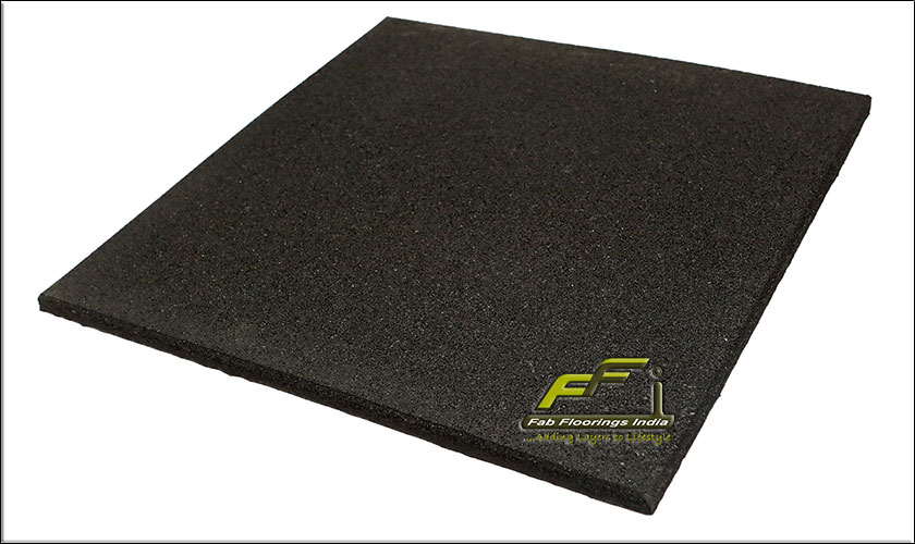 20mm black rubber floor tiles