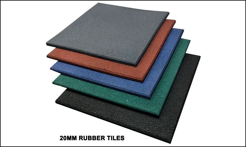 20mm rubber floor tiles
