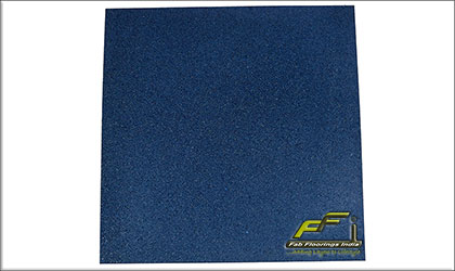 blue rubber tile
