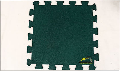 green interlocking rubber tile