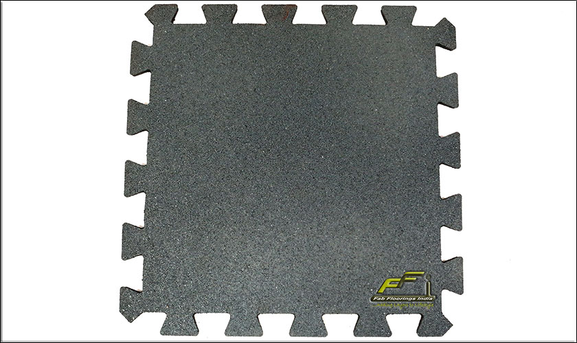 grey interlocking rubber tile