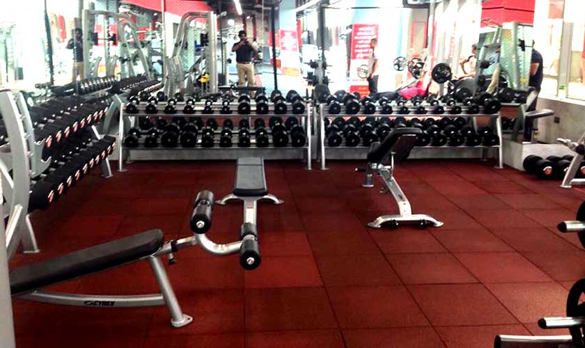 gym rubber tiles flooring
