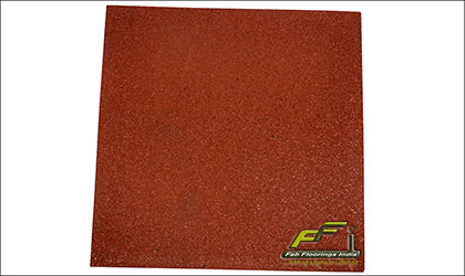 terracotta rubber tile