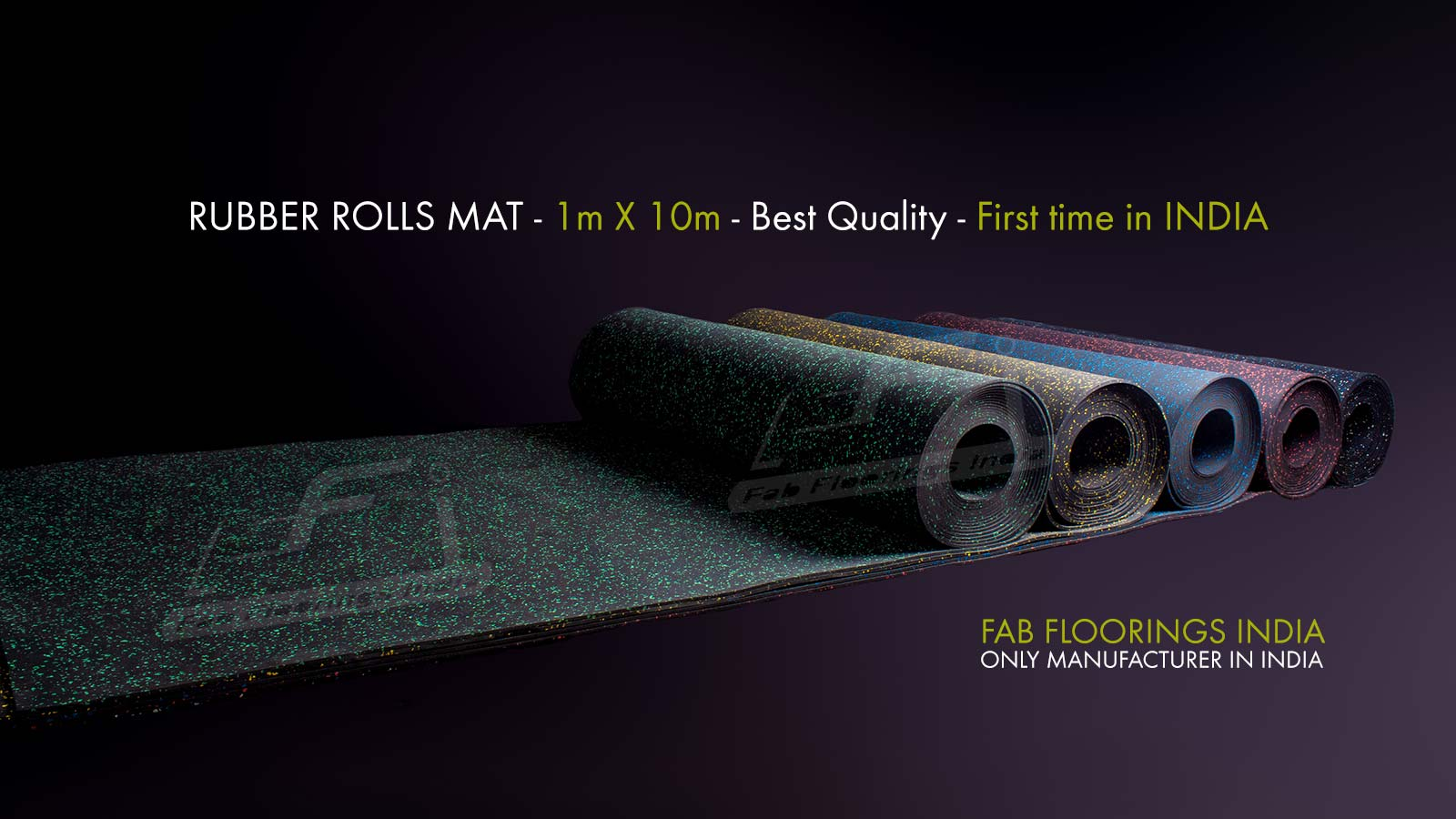 Rubber Roll Mat - First Time in India