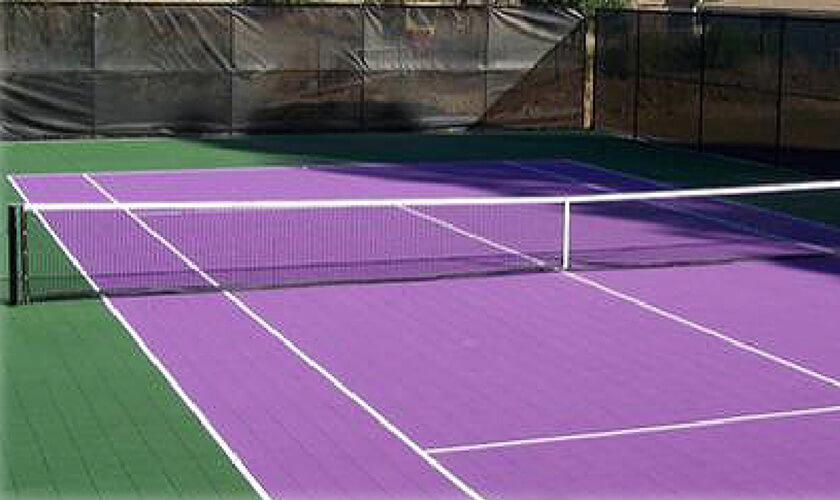 tennis rubber surface